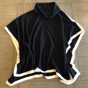Calvin Klein L/XL cowl shawl poncho cape sweater